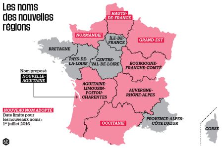 Map Of France New Regions.French With Shelley France S New Regions